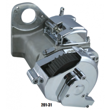 201-36 Ultima 6-Speed Right Side Drive Transmission. Polished Finish, Hydraulic