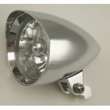 """8-20 Chromed Aluminum Headlights with or without Tri Bar. 4-1/2"""" Diameter, 6-3/4"""" length"""