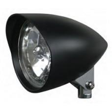 "8-31 Black Headlight Assemblies. Black Headlight, Tri Bar, Bullet, 5-3/4"""