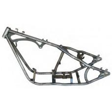 "85-101 250 Ultra-wide rigid frame with 34°rake, 4"" stretch downtubes, 24-1/2"" backbone."
