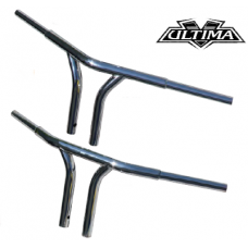 """50-106 Ultima Drag Y-Bars Chrome. 1 Bend Style - 32"""" Wide"""
