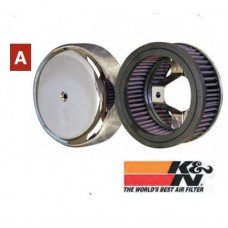 12-115 K&N Custom Air Filters For H-D. Linket Carburetors (early 4 - bolt models).
