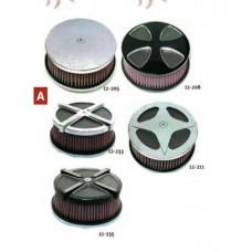 12-207 High Performance Air Cleaner Kits. Chrome HP smooth cross A/C kit.