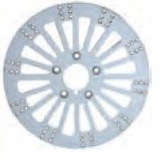90-610 King Spoke Rotors (Polished Stainless Steel) Front, 84' - 99' & 00' - later (w/ Speedo notch)