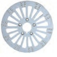 90-613 King Spoke Rotors (Polished Stainless Steel) Rear, 99' & 00' - later
