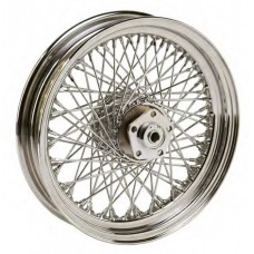 "36-343 Ultima 80 Spoke Chrome Front Wheels w/ OEM Style Hub Pre 1999 Models 16"" x 3.00"""