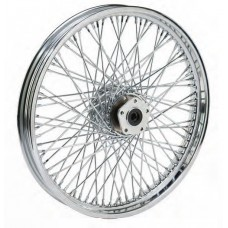 "36-347 Ultima 80 Spoke Chrome Front Wheels w/ OEM Style Hub Pre 1999 Models  16"" x 3.00"""