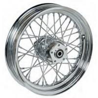 "36-305 Ultima Chrome 40 Spoke Front Wheels Pre 1999 Models w/ OEM Style Hub 16"" x 3.00"""