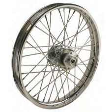 "36-311  Ultima Chrome 40 Spoke Front Wheels Pre 1999 Models w/ OEM Style Hub 21"" x 1.85"""