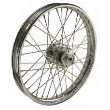 "36-312 Ultima Chrome 40 Spoke Front Wheels Pre 1999 Models w/ OEM Style Hub 21"" x 2.15"""