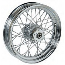 "36-313 Ultima Chrome 40 Spoke Front Wheels Pre 1999 Models w/ OEM Style Hub 16"" x 3.00"""
