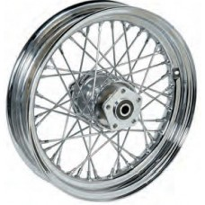 "36-314 Ultima Chrome 40 Spoke Front Wheels Pre 1999 Models w/ OEM Style Hub 16"" x 3.00"""