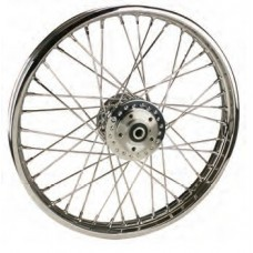 "36-328 Ultima Chrome 40 Spoke Front Wheels Pre 1999 Models w/ OEM Style Hub 21"" x 2.15"""